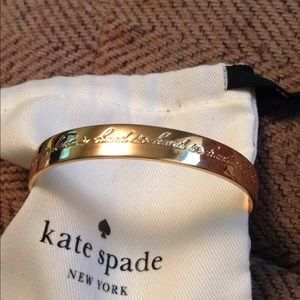 Kate spade golden Idiom Bangle Bracelet